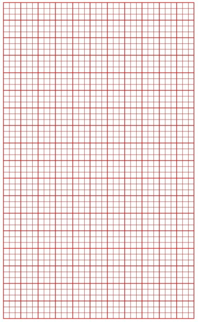 Graph Paper Red Lines with Bold Line
