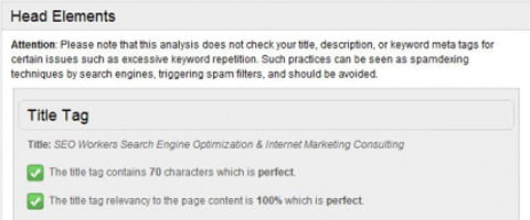 SEO analysis tool.