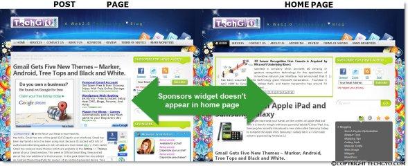 HOME PAGE widget & POST PAGE widget OMARISON