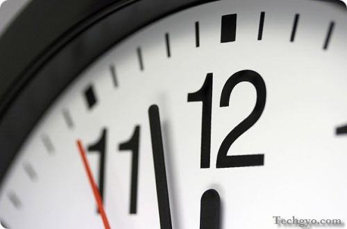 blogging time management clock