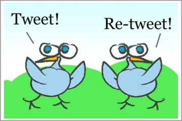 tweet-tweet and retweet