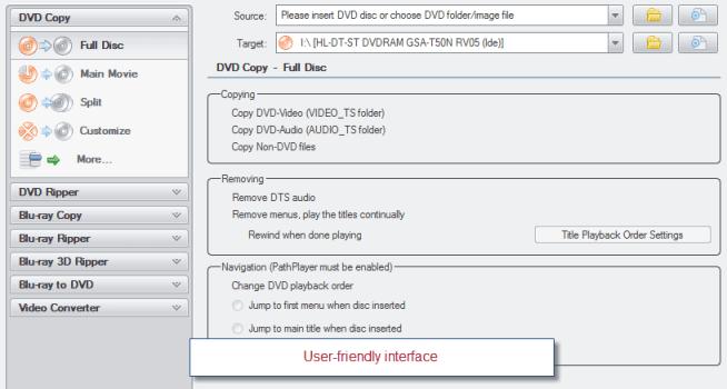 Blu ray 3d ripper interface