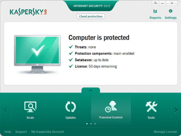kaspersky screen