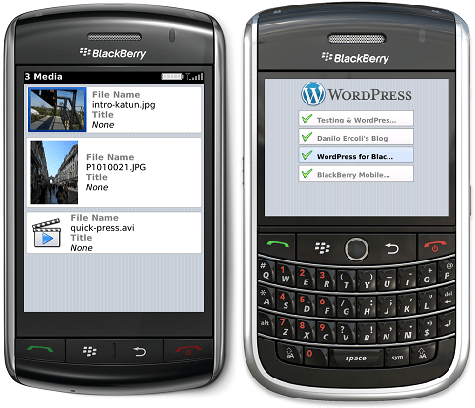 wordpress for blackberry productivity