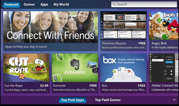 BlackBerry PlayBook Apps