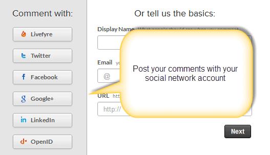 livefyre social network signin