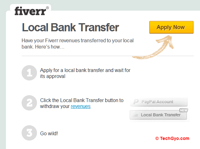 Fiverr Local Bank Transfer