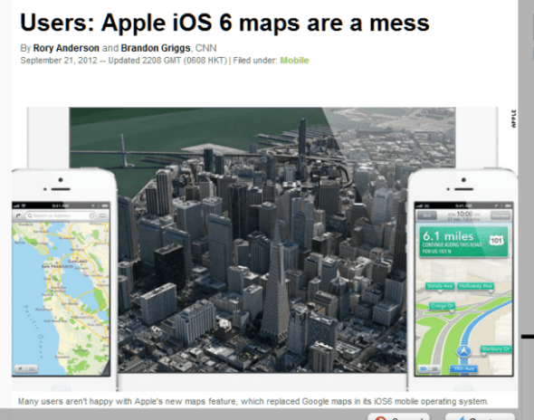 Users  Apple iOS 6 maps are a mess   CNN