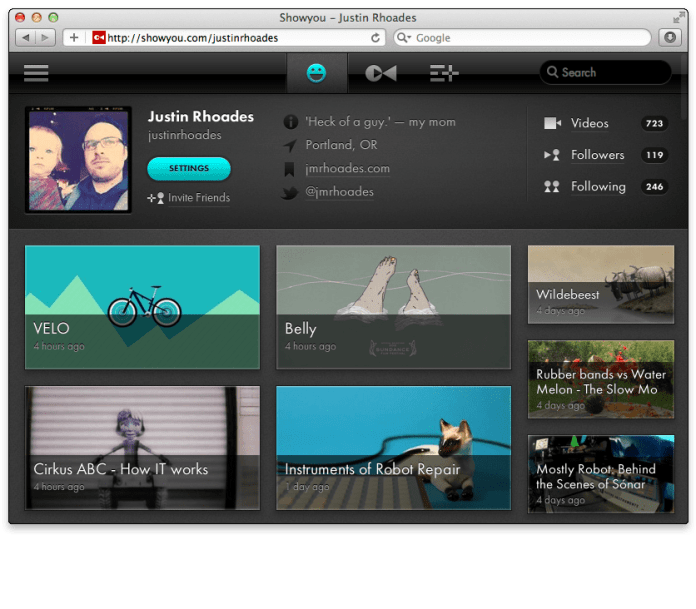 Showyou: a Great Social Video app for your iPhone and iPad 4