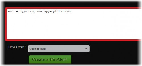 add domain to pinalerts