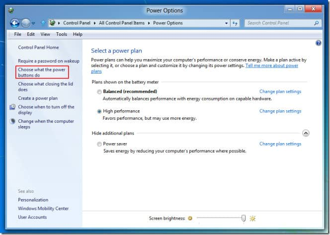 How to enable Hibernation mode in Windows 8 3