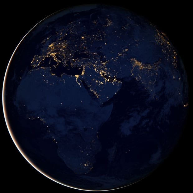 "Amazing images of the ""Black Marble"" view of the Earth at night released by NASA 1"