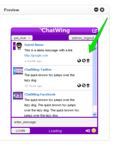 Chatwing Live Chat Widget helps increase websites' user engagment. 2