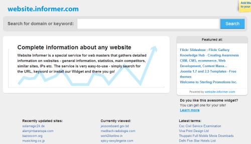 check website stats-check website revenue