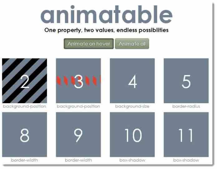 animateble animation library