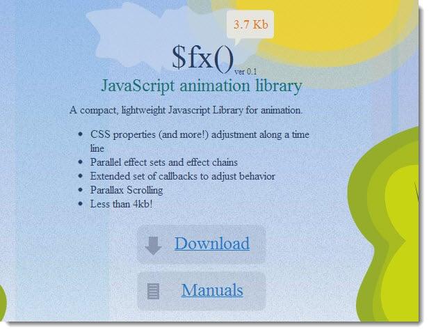 fx javascript animation library