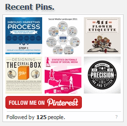pinterest recent pin widget