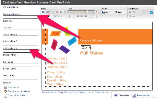 business card maker vistaprint