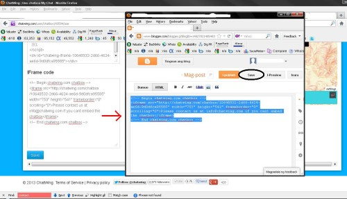 chatwing Embedding - Pasting