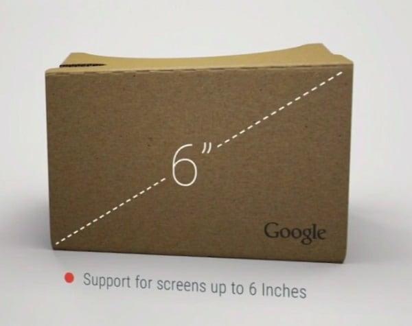 googles cardboard 2 virtual reality ios 6inch