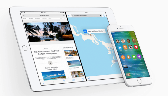 apple ios 9 split view