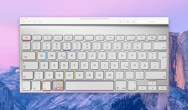 apple macbook german keyboard tricks