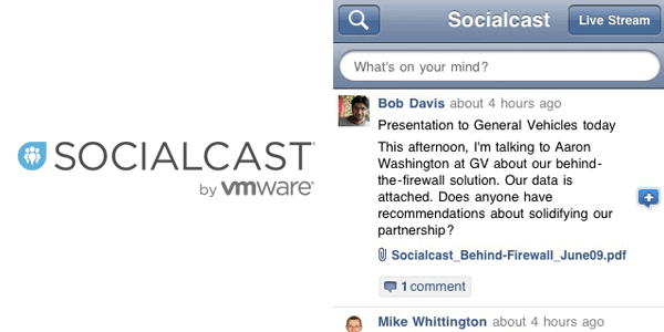 socialcast by vmware Enterprise Mobile Apps