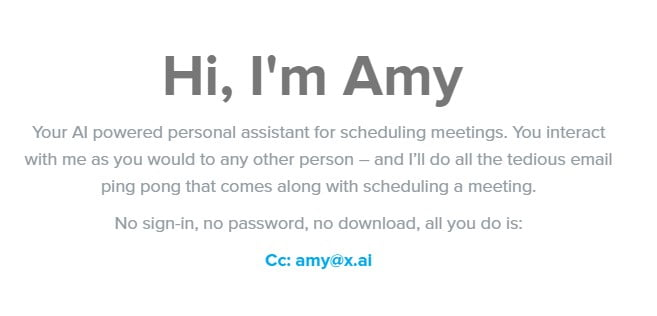Amy Artificial Intelligence Website