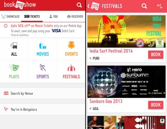 BookMyShow - Food, Events and Information