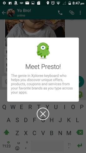 PRESTO FOR THE XPLOREE KEYBOARD