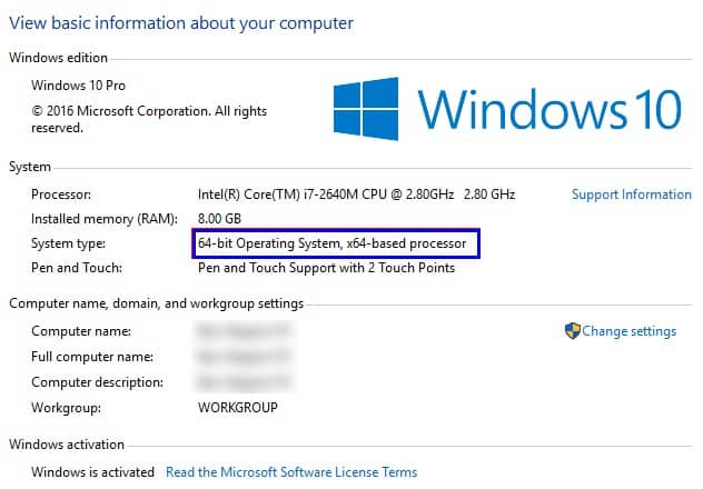 Difference Between The 32-bit And 64-bit Windows