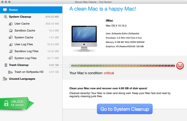 Movavi-Mac-Cleaner for removing apps from macbook pro