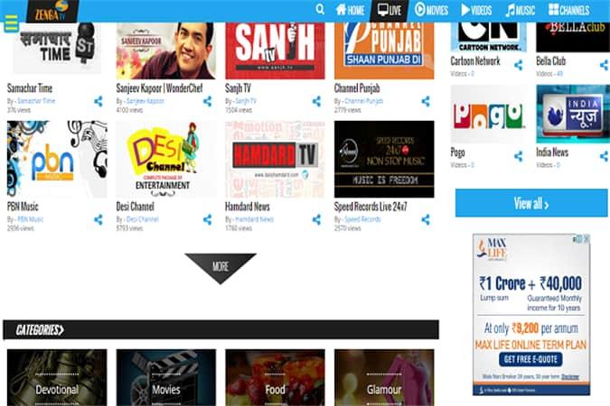 zengatv-Watch-Live-Indian-TV-Channels-Online