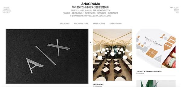 Anagrama minimalist design