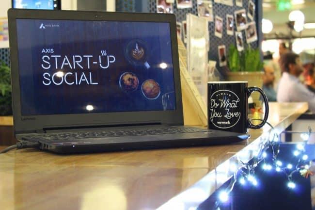 axis bank startup social