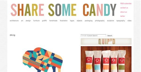 share some candy wordpress design