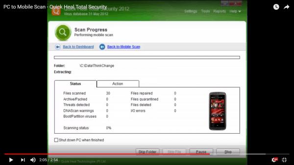 Trick to Scan Phone Virus Via PC 6
