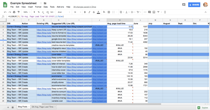 Visualizing Time: A Project Management How-To Using Google Sheets 6
