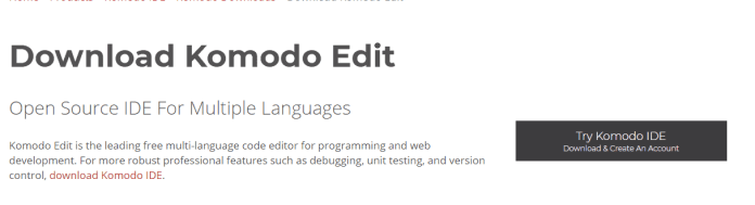 Komodo Edit mac text software