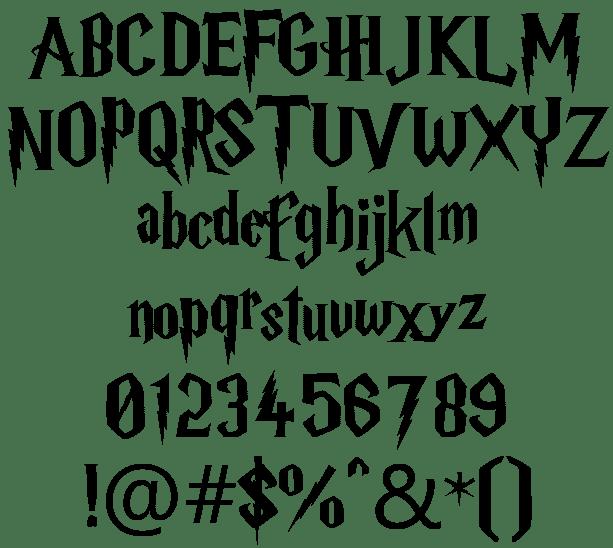 Image result for harry potter font