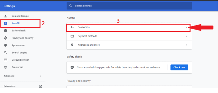 7 Quick Fix To Resolve If Chrome is not saving passwords 4