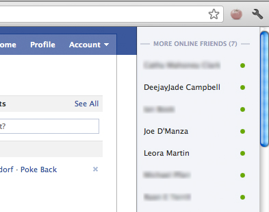 Hide Offline Friends on Facebook Chat With Chrome and