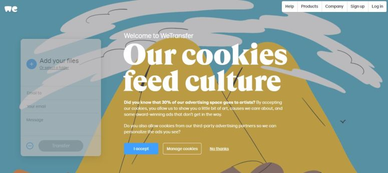 how to login to wetransfer