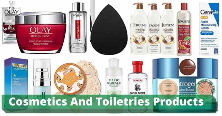 cosmetics and toiletries products