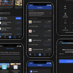 Dark Mode Design Principles: RaiseMe iOS Dark Mode theme