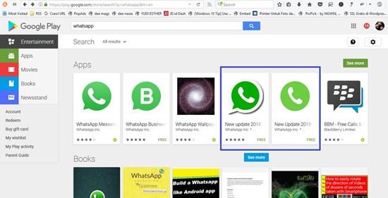 WhatsApp Palsu Telah di Download Lebih Dari 1 Juta Kali