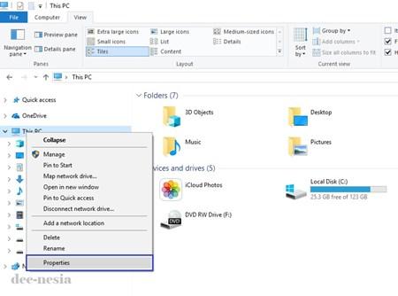 Melihat System Properties Windows