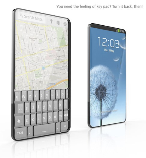 bubble phone with key pad and touch
