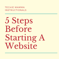 5 Steps Before Starting A Website