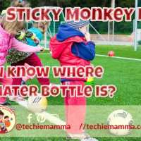Sticky Monkey Labels: Keep Track of Your Kiddos Stuff